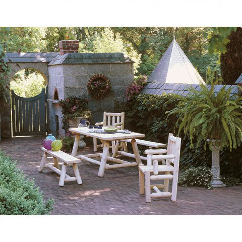 Rustic Cedar Furniture Classic Farmer's Table Set - 5 pieces