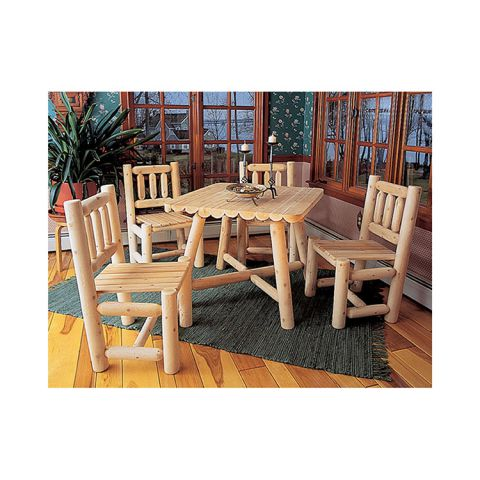 Rustic Cedar Furniture Square Dining Group - 5 pieces