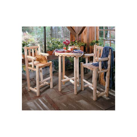 Rustic Cedar Furniture Bistro Set