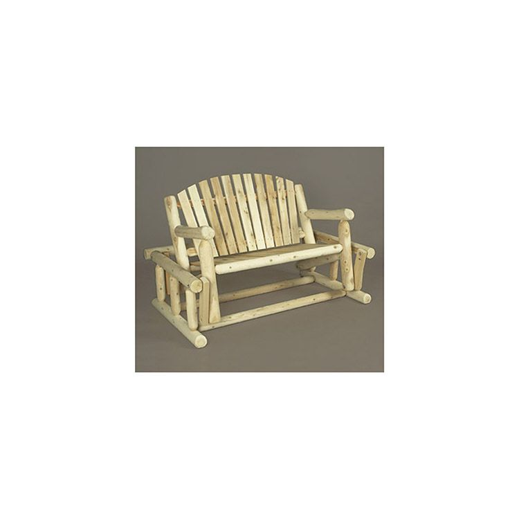 Rustic Cedar Furniture Log Style Glider