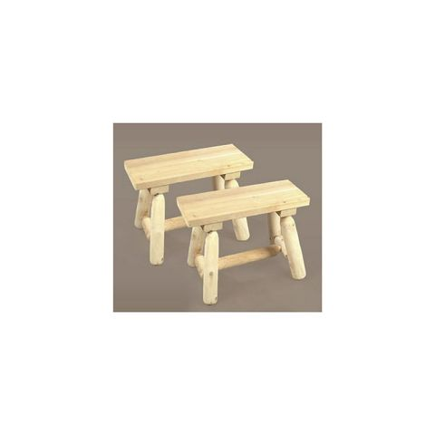 Rustic Cedar Furniture Small Straight Bench - Set of 2