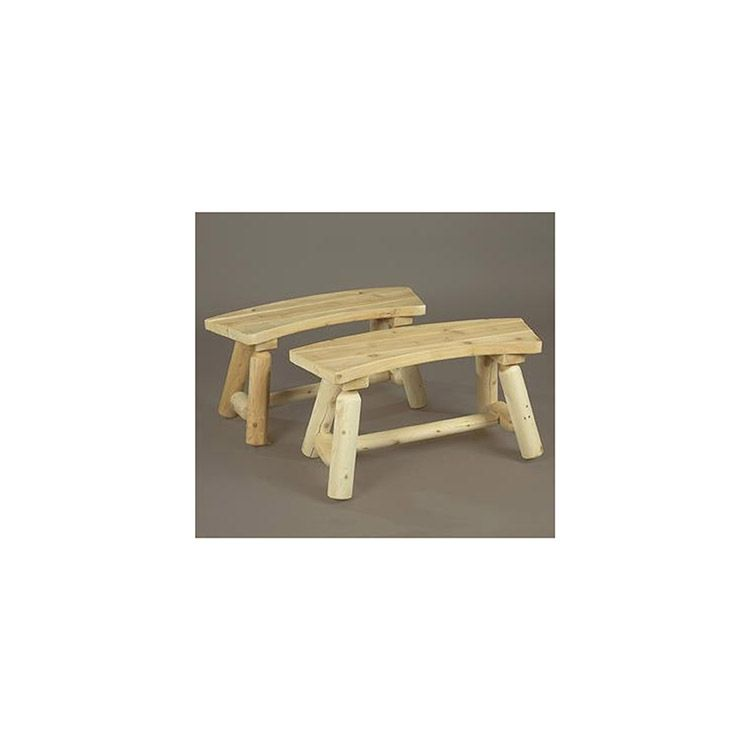 Rustic Cedar Furniture Curved Bench