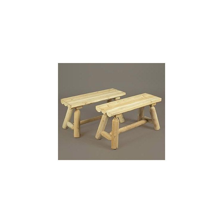 Rustic Cedar Furniture 3' Straight Bench - Set of 2