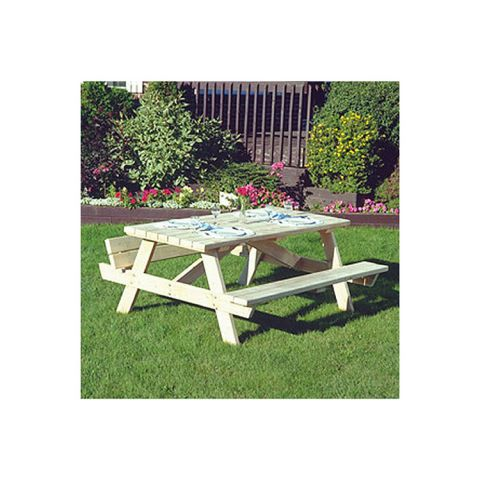 Rustic Cedar Furniture Square Style Picnic Table