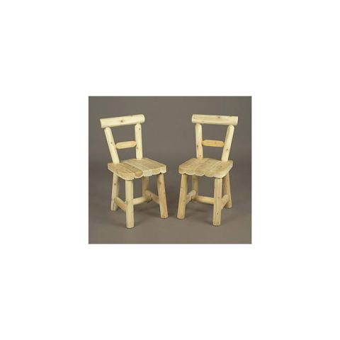 Rustic Cedar Furniture Solid Seat Dining Chair - Set of 2