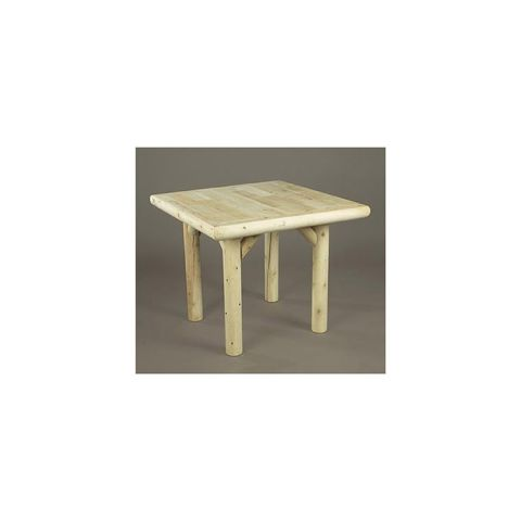 "Rustic Cedar Furniture 35"" Solid Top Dining Table"