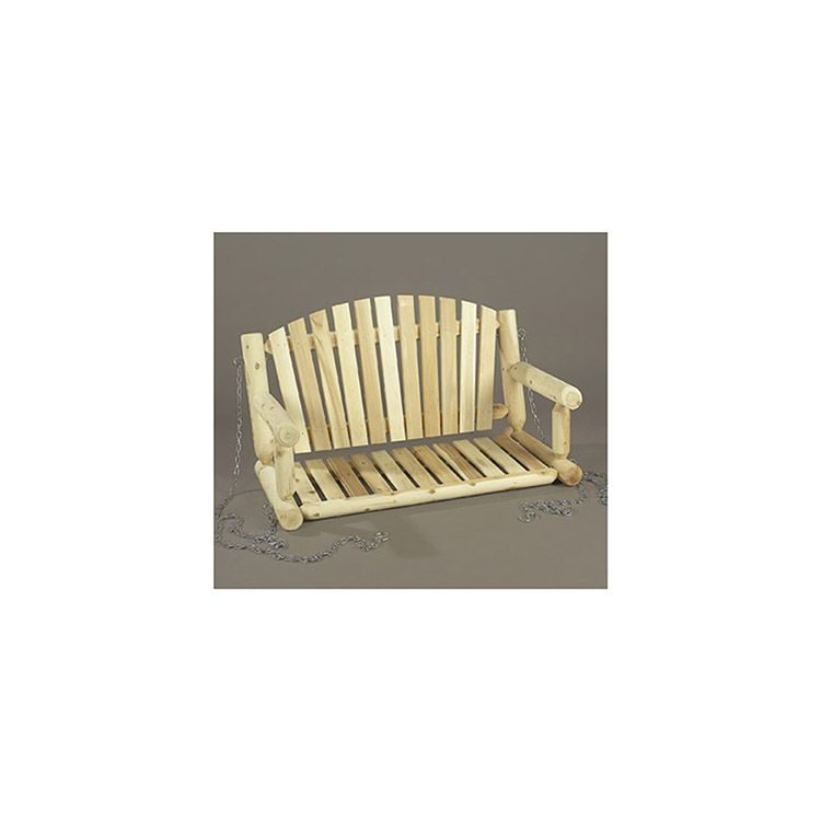 Rustic Cedar Furniture Porch Swing with Chain Kit