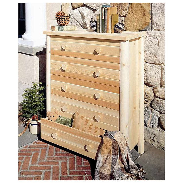 Rustic Cedar Furniture Five Drawer Dresser