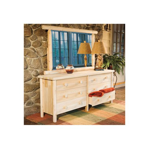 Rustic Cedar Furniture Six Drawer Dresser