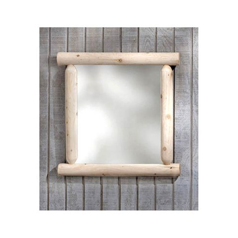 Rustic Cedar Furniture Wilderness Mirror - Plain