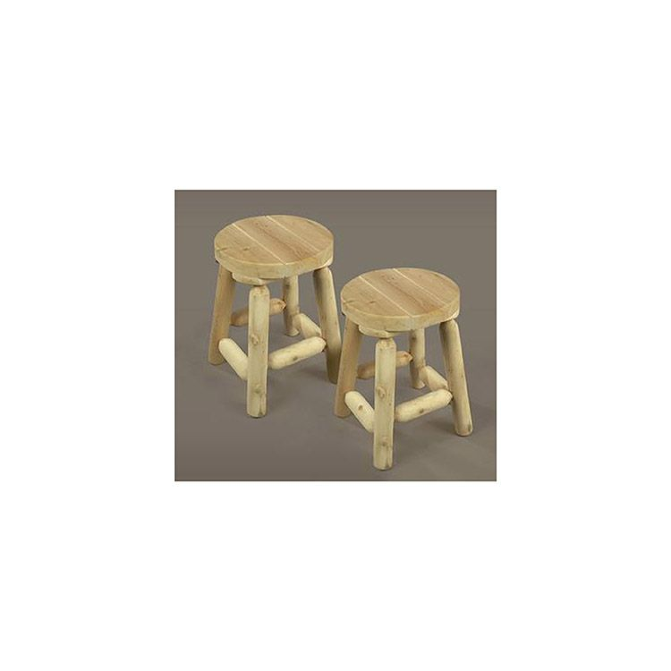 Rustic Cedar Furniture Bar Stool, Set of 2