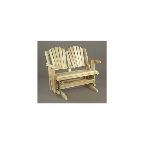 Rustic Cedar Furniture Love Seat Glider