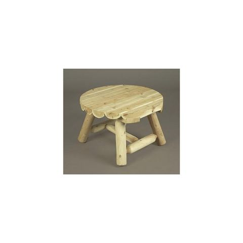 Rustic Cedar Furniture Round Coffee Table