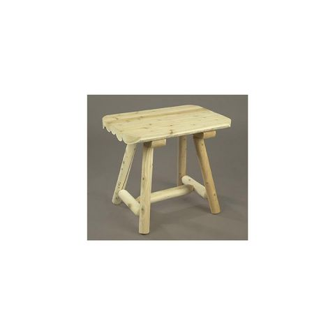 Rustic Cedar Furniture End Table