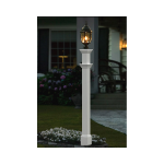 New England Arbors Portsmouth White Lamp Post Only (VA94430), White (UL-PLAMP)