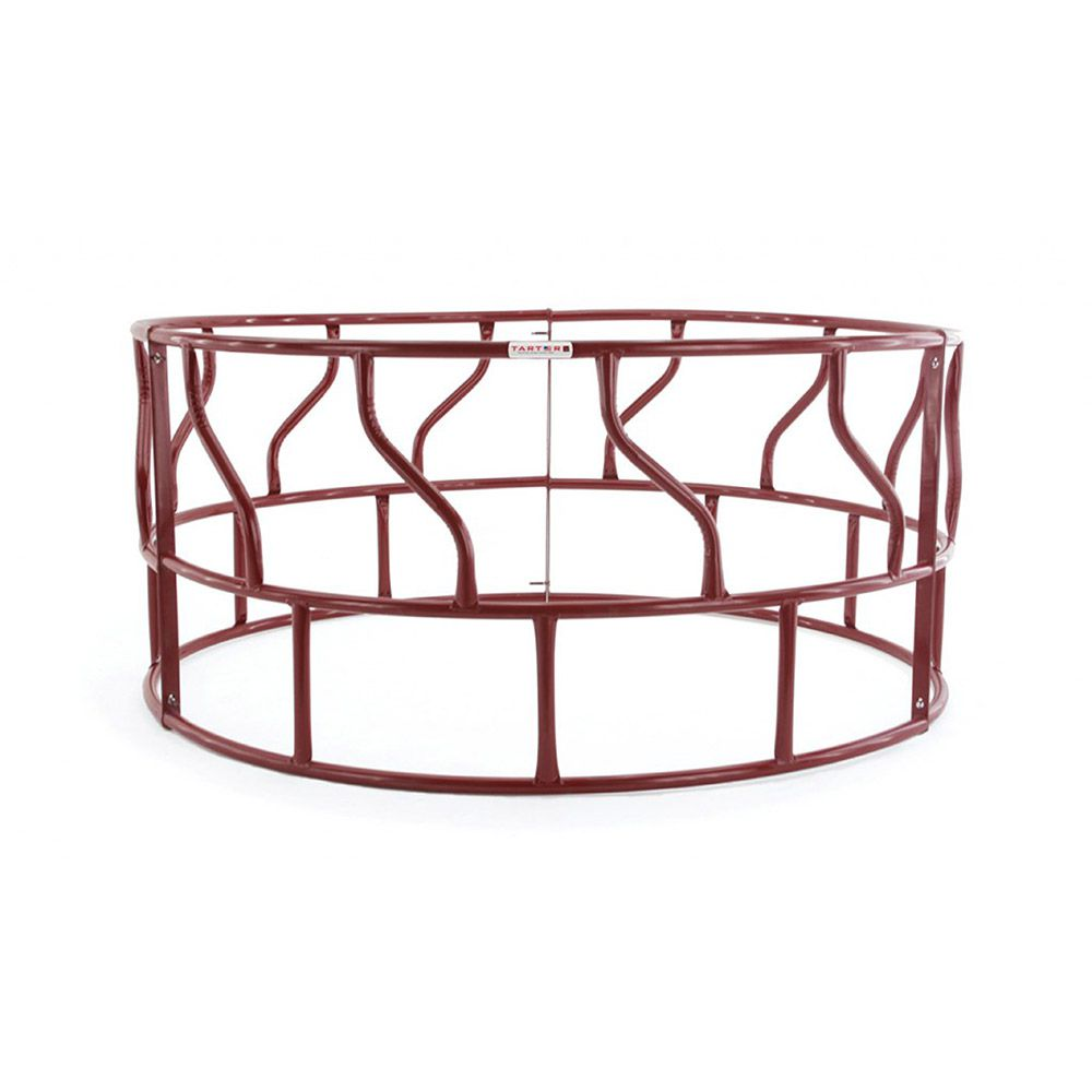 Tarter 3-Piece Red S-Bar Round Bale Hay Feeder w/o Metal