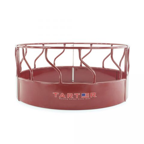 Tarter 3-Piece Red S-Bar Round Bale Hay Feeder w/ Metal