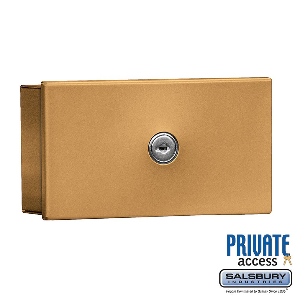 Salsbury Key Keeper, surface mounted brass finish, private access with two keys