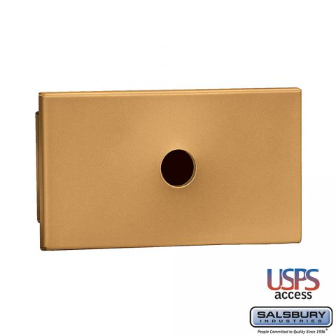Salsbury Key Keeper, recessed mounted brass finish, USPS access