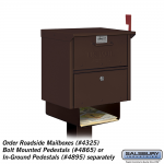 Salsbury Designer Newspaper Holder for Designer Roadside Mailbox (4315-D-P)