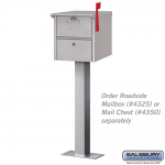 Salsbury Bolt Mounted Pedestal - for mail chests and roadside mailboxes (4365-P)