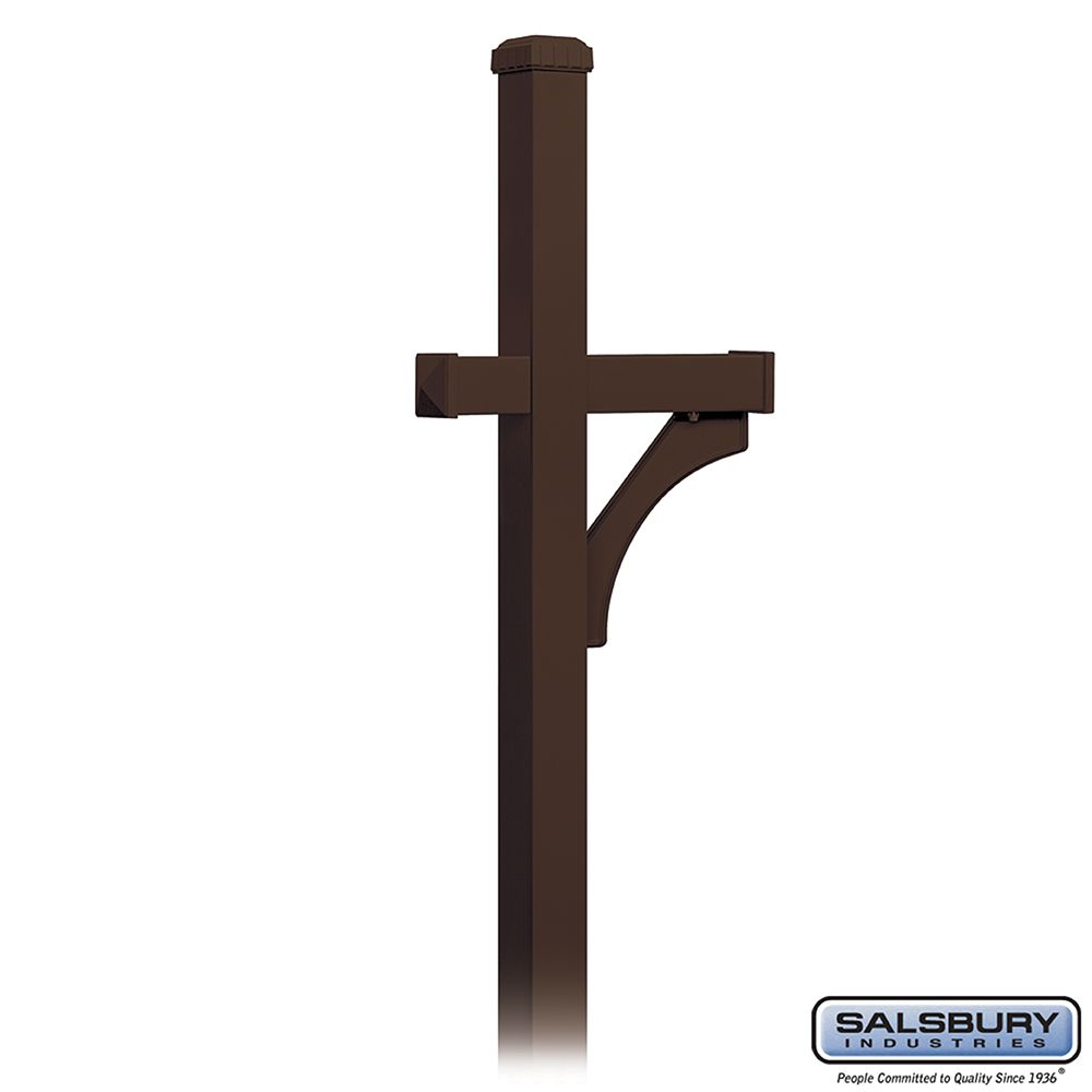 Salsbury Designer Roadside Mailbox Deluxe 1-Sided Post, in-ground