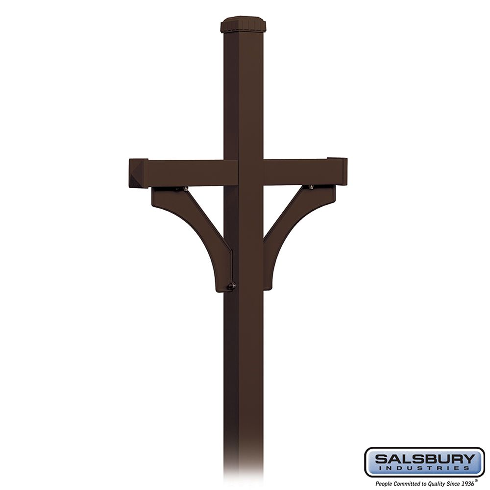 Salsbury Designer Roadside Mailbox Deluxe 2-Sided Post, in-ground