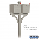 Salsbury Designer Roadside Mailbox Deluxe 2-Sided Post, in-ground (4372-D-P)