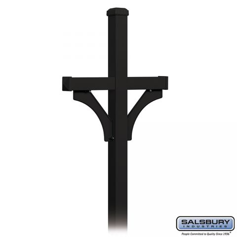 Salsbury Roadside Mailbox Deluxe 2-Sided Post, In-Ground