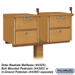 Salsbury Two Wide Designer Spreader for Designer Roadside Mailboxes (4382-D-P)