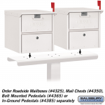Salsbury Two Wide Spreader for Mail Chests and Roadside Mailboxes (4382-P)