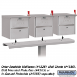 Salsbury Three Wide Spreader for Mail Chests and Roadside Mailboxes (4383-P)