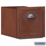 Salsbury Antique Brass Mailbox - horizontal recessed mounted (4440)