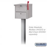 Salsbury In-ground Mounted Pedestal - for mail chests and roadside mailboxes (4385-P)