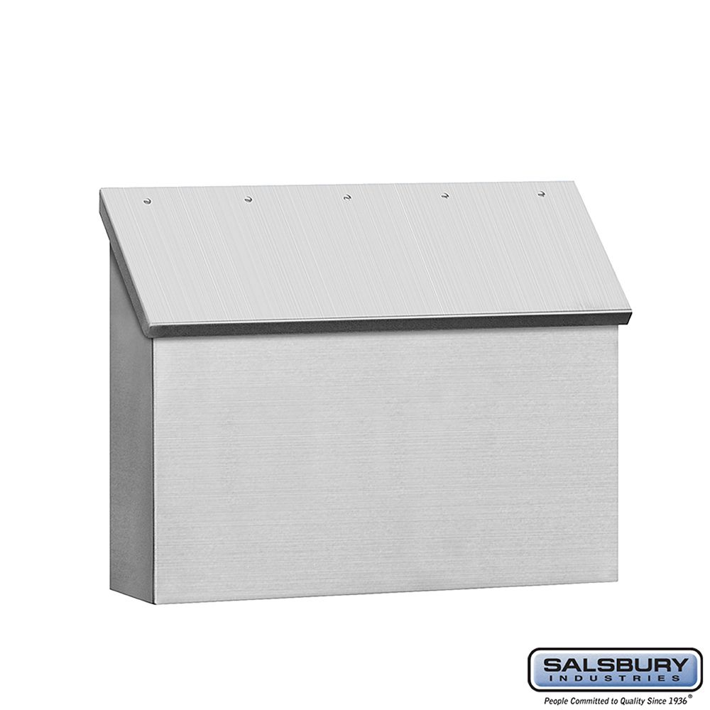Salsbury Stainless Steel Mailbox, traditional, standard, horizontal style