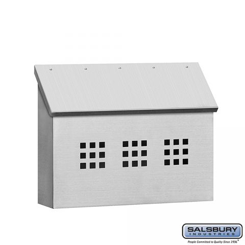 Salsbury Stainless Steel Mailbox, traditional, decorative horizontal style