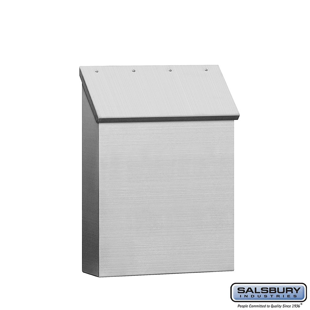 Salsbury Stainless Steel Mailbox, Traditional, Standard, Vertical Style