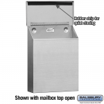 Salsbury Stainless Steel Mailbox, Traditional, Standard, Vertical Style (4520)