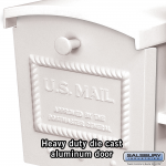 Salsbury Townhouse Mailbox - Post Style (4550-P)