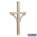 Salsbury Deluxe Mailbox Post, 2-Sided for 2 Mailboxes (4872-P)