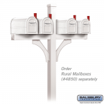 Salsbury Deluxe Mailbox Post, 2-Sided for 4 Mailboxes (4874-P)