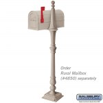 Salsbury Classic Mailbox Post 1-side - bolt-mount (4891-P)