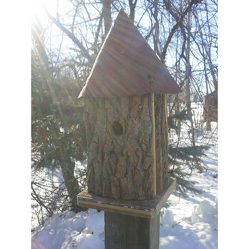 Barkwood Tower Bird House