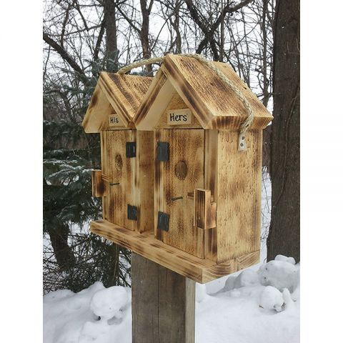 His and Hers Outhouse Bird House