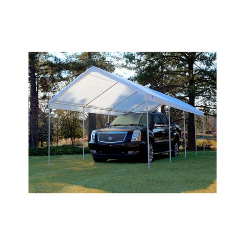 King Canopy 10' x 27' Universal Canopy 8 Leg - White - 147 lbs.