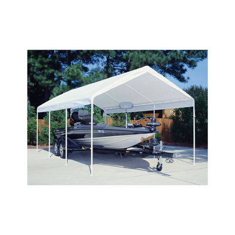 King Canopy 12' x 20 Universal Canopy 8 Leg - White