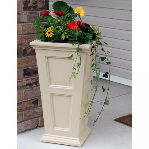 "Mayne Fairfield Tall Patio Planter - 16""x 16""x 28"""