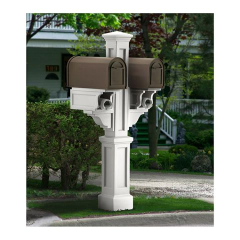 Mayne Rockport Double Mailbox Post