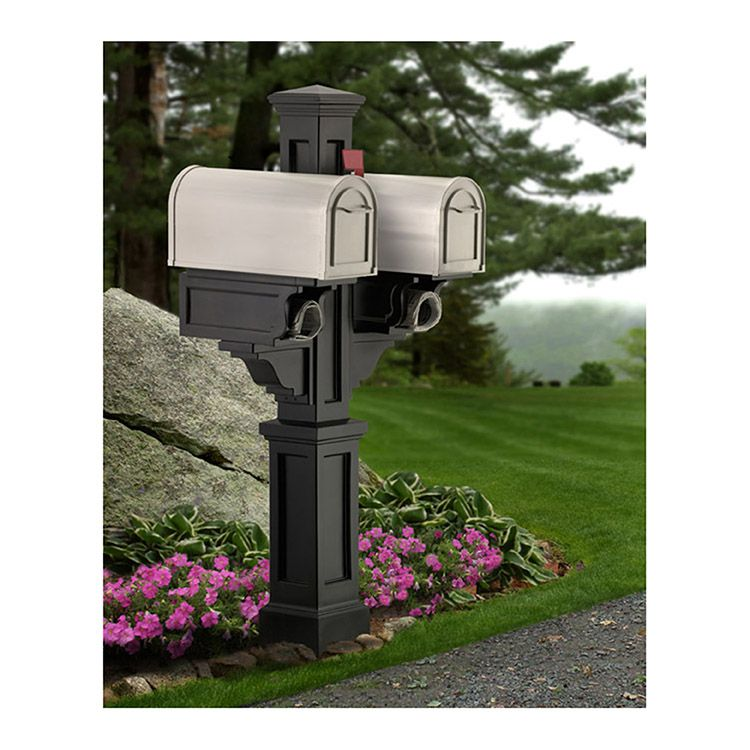 Mayne Rockport Double Mailbox Post Hoover Fence Co