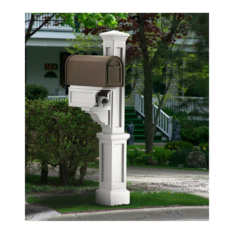 Mayne Rockport Single Mailbox Post